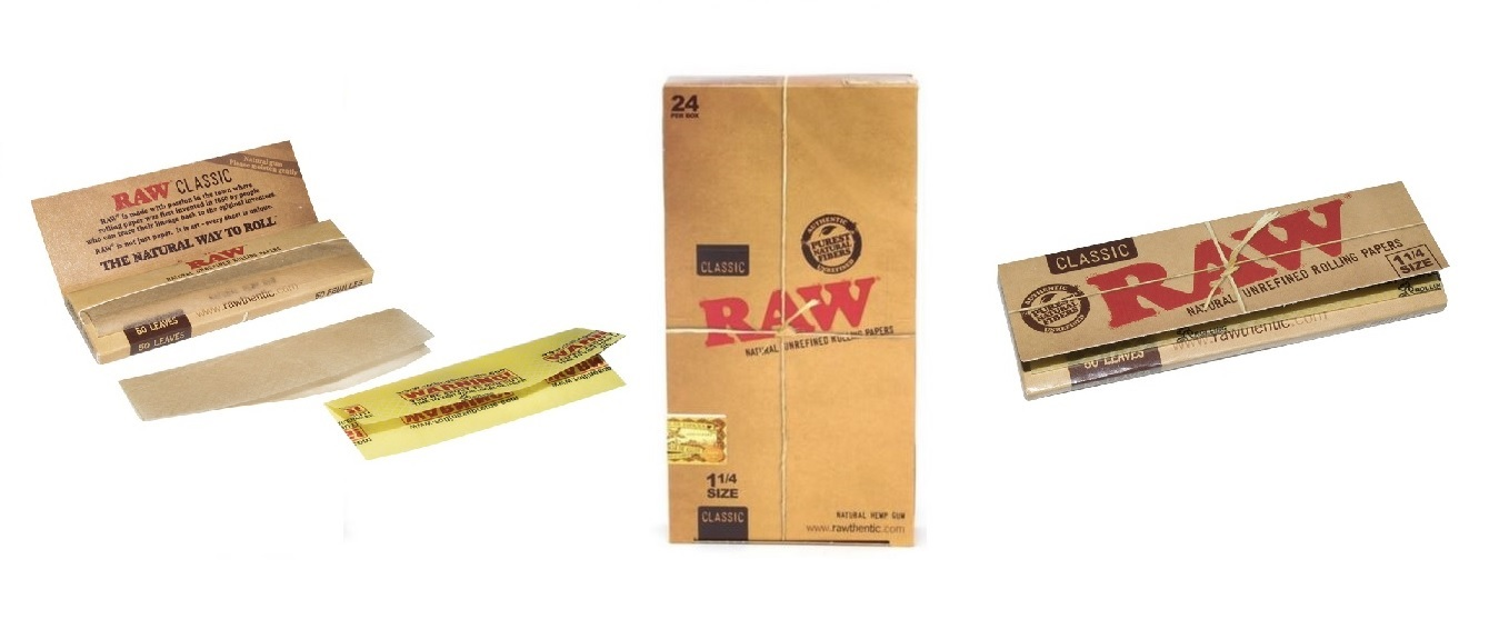 Raw Classic 1 1 4 Natural Unrefined Rolling Paper