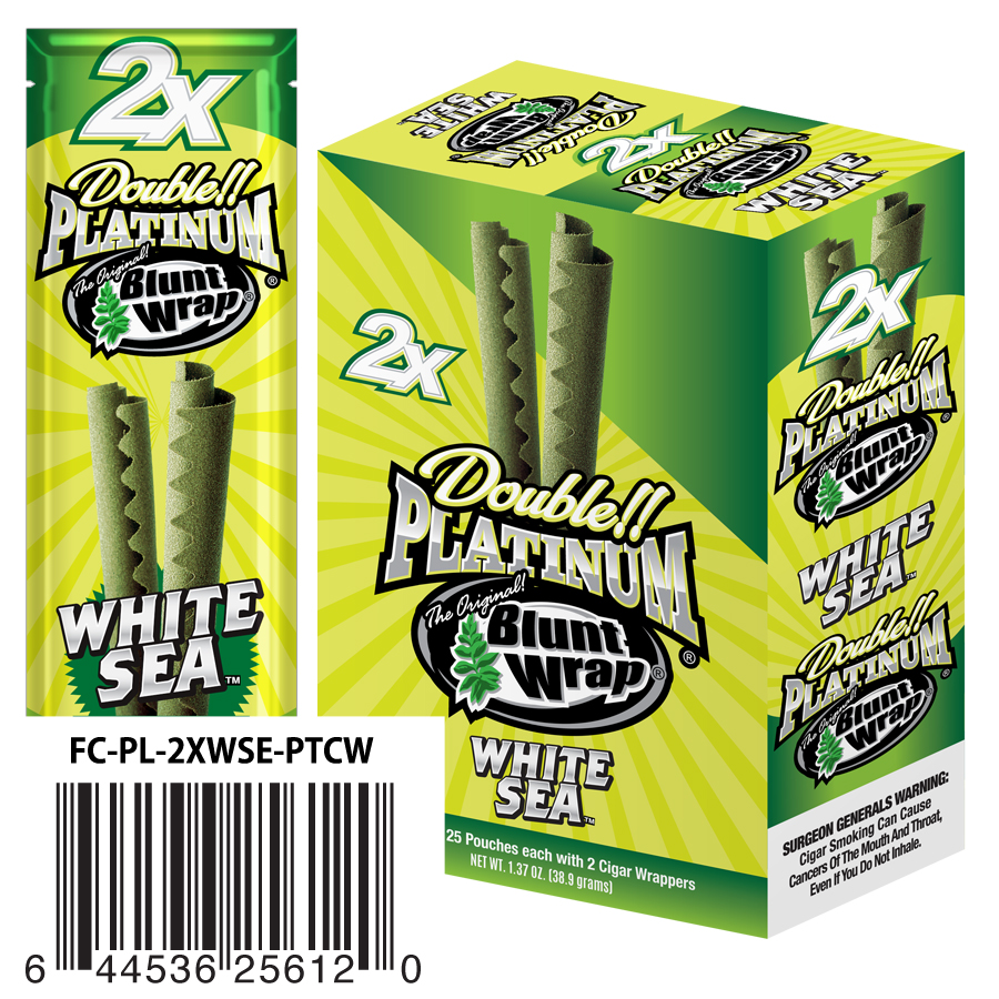 DOUBLE PLATINUM BLUNT WRAPS White Sea