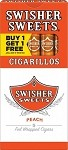 Swisher Sweets Cigarillos Peach Pack B1G1