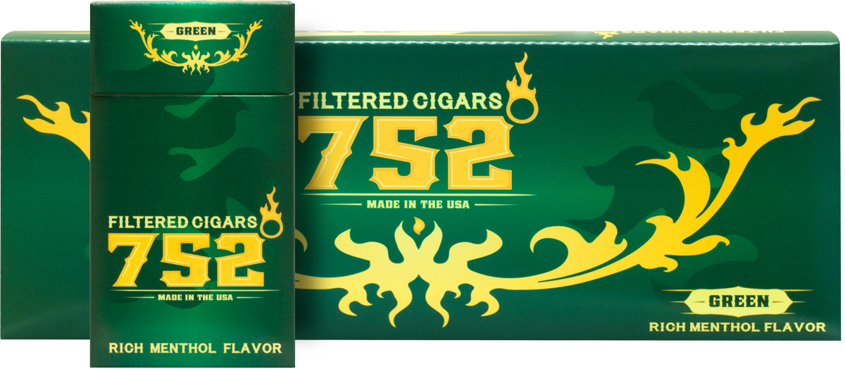 752 Filtered Cigars Menthol (Green)