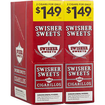 Swisher Sweets Cigarillos Foil Pack Regular Pre-Priced 2for1.49