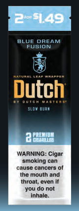 Dutch Masters Cigarillos Foil Blue Dream Fusion 2for99