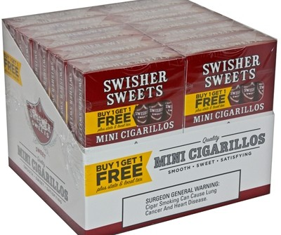 Swisher Sweets Mini Cigarillos Regular B1G1 Pack