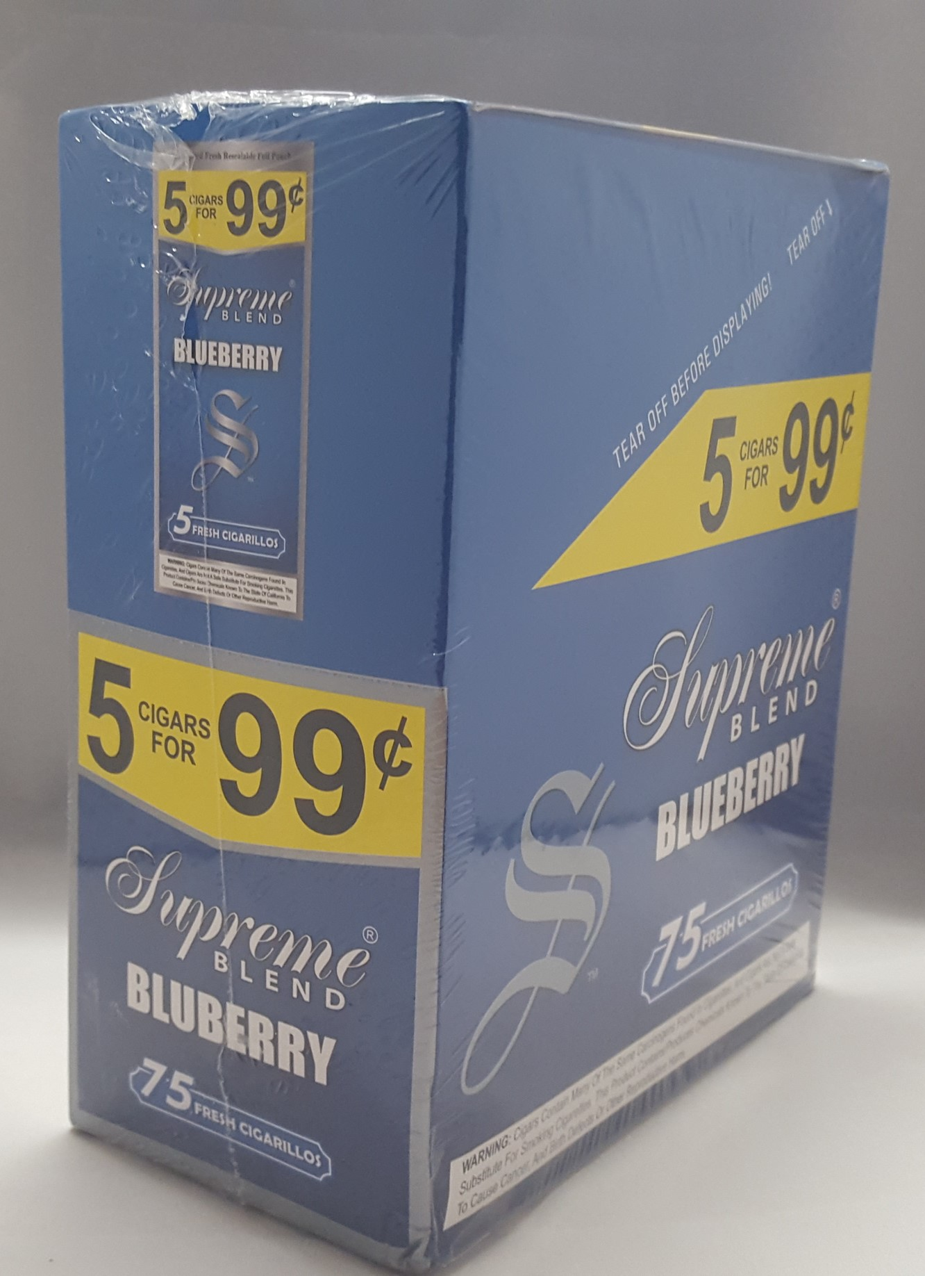 Supreme Blend Blueberry Pre-Priced 5 for .99