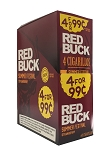 Red Buck Cigarillos Foil Strawberry 4 for 0.99