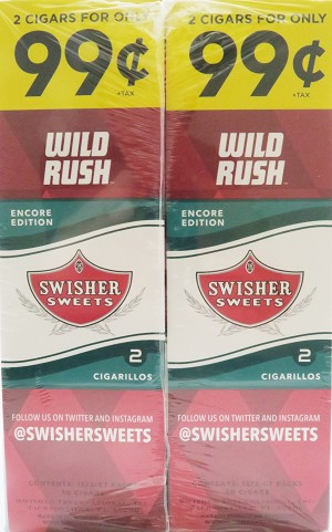 Swisher Sweets Cigarillos Foil Wild Rush Pre-Priced