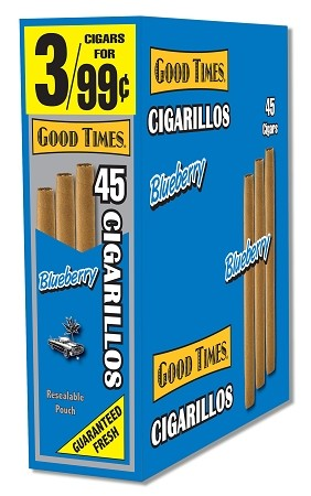 Good Times Cigarillos Blueberry 15/3 Pre-Priced