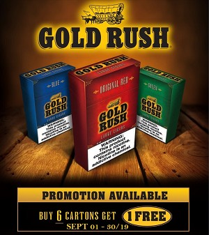 Gold Rush Filtered Cigars BUNDLE 6 + 1 FREE ( Available Sept 1 - 30)