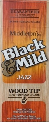 Black & Mild Jazz Cigars Wood Tip Box