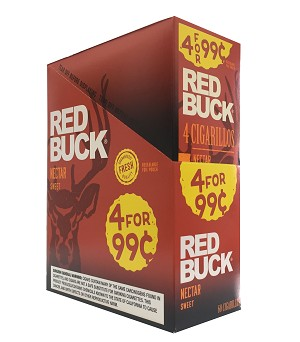 Red Buck Cigarillos Foil Sweet 4 for 0.99
