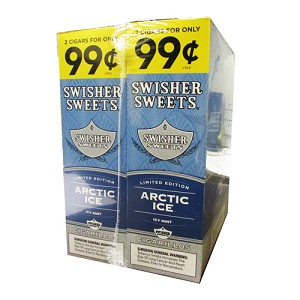 Swisher Sweets Cigarillos Foil Pack Artic Ice Pre-Priced